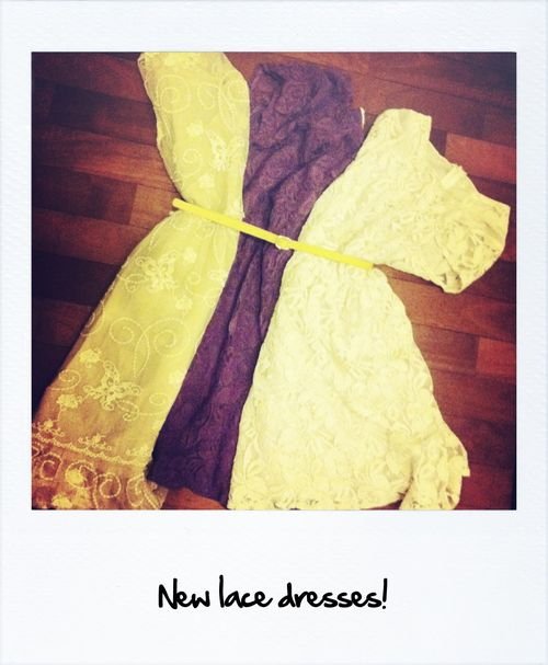 New lace dresses